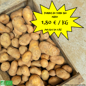 """Pommes de terre bio """"Agria"""" par 5 kg"""