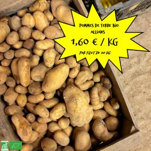"""Pommes de terre bio """"Allians"""" par 20 kg"""